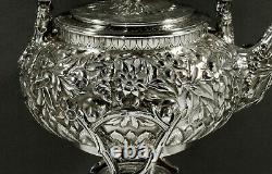 Peter L Krider Sterling Tea Set c1885 JAPANESE