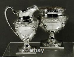 Philip Oriel Sterling Tea Set c1920 HAND WROUGHT