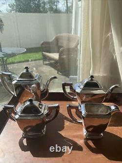 Poole Silver & Co. Tea and Coffee Set Art Deco