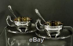 Portuguese Silver Tea Set c1940 Signed 916 Pure