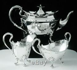 Quality Scottish Bachelor Teaset, GLASGOW 1912, James Ballantyne & Son