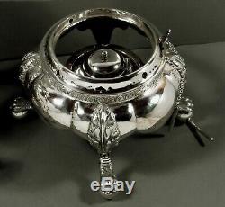 R. Rait Silver Tea Set Tea Urn c1840 Empire 105 Ounces