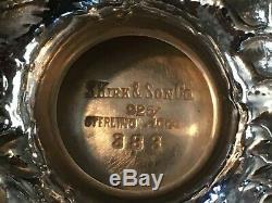 RARE PRISTINE ca. 1914 114 OZ COMPLETE KIRK & SON 5-PC STERLING SILVER TEA SET
