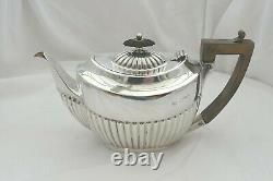 RARE VICTORIAN HM STERLING SILVER 3 piece BATCHELORS TEA SET 1896