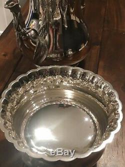 Rare Huge Fine Ca 1855 143 Oz Complete Tiffany & Co 5-pc Sterling Silver Tea Set