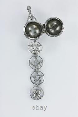 Rare Masonic ladder Orb Solid Silver