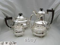 Rare Qe II Hm Sterling Silver 4 Piece Tea Set 1960