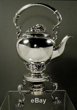Redlich Sterling Tea Set Kettle & Stand c1910 Jensen Taste