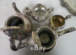 Reed & Barton 5600 Regent Silver Plate 5 Piece Tea Set Coffee Tea ...