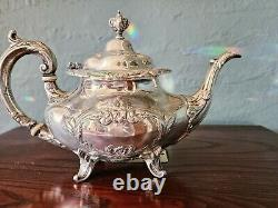 Reed & Barton Burgundy 5 Piece Sterling Silver Tea & Coffee Set