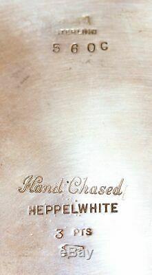 Reed & Barton Hepplewhite 560C Sterling Tea Set Coffee Pot Teapot Creamer Sugar