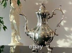 Reed & Barton Silverplate WINTHROP 1795 Footed Coffee/Tea Set and Tray