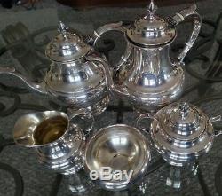 Reed & Barton Sterling Silver 5 Piece Tea Set The Pilgrim pattern 2188g