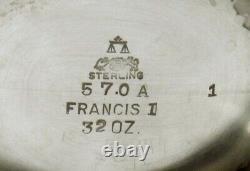 Reed & Barton Sterling Tea Set 1947 FRANCIS I 97 OUNCES