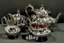 Reed & Barton Sterling Tea Set 1951 HAMPTON COURT 65 OZ. NO MONOGRAM