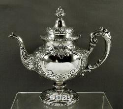 Reed & Barton Sterling Tea Set c1950 FLORA