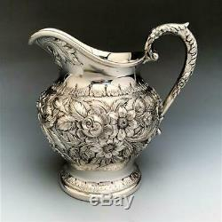 Repousse by Kirk Stieff 5pc Sterling Silver Tea Set #474F RARE! CA 1925-1932