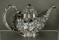 Ritter & Sullivan Sterling Tea set c1905 HAND DECORATED