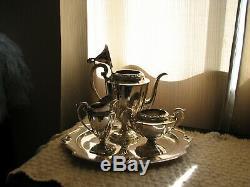 Rogers Bros Coffee/Tea Set Silverplate Eternally Yours