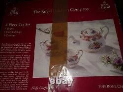 Royal Albert Bone China Lady Carlyle 3 Piece Tea Set
