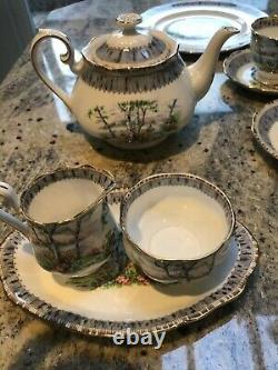 Royal Albert Silver Birch Tea Set, used, in excellent condition