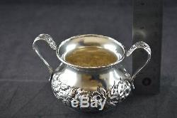 S Kirk & Son Repousse Sterling Silver 3 Piece Mini Tea Set #418 No Mono