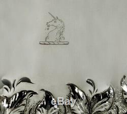 Samuel Kirk Silver Tea Set c1840 Unicorn 98 Ounces
