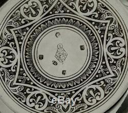 Scottish Sterling Silver Tea Set 1881 Zodiac Indian Taste
