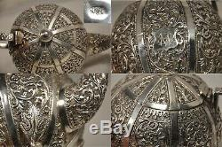 Service The Ancien Argent Massif Antique Solid Silver Anglo Indian Tea Set