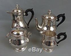 Service thé café ERCUIS métal argenté modèle coquille / silver plated tea set