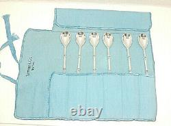 Set of 6 Tiffany & Co. Sterling Silver Ice Tea Spoon, 7 3/4, Bamboo Pattern