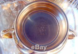 Sheffield Art Deco Silver on Copper Quadruple Plate Coffee/Tea Set for Two