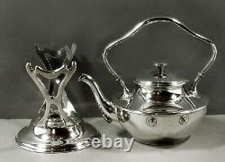 Shreve & Co. Sterling Tea Set c1910 ART DECO