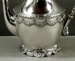 Shreve Sterling Tea Set c1895 SAN FRANCISCO