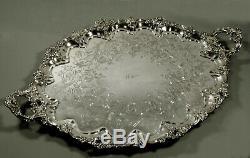 Silver Plate Tea Set Tray c1890 Williams Family