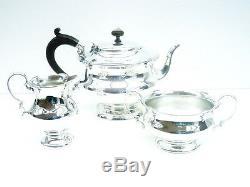 Silver Teaset Tea Set Service, STERLING, Tea Pot Teapot, Sugar, Cream, HM 1927