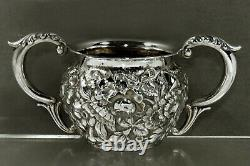 Simons Bros. Sterling Tea Set c1890 RARE MAKER