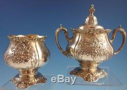 Sir Christopher by Wallace Sterling Silver Tea Set 5pc with Tray (#1942)
