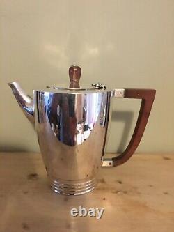 Solid Silver Art Deco Style 4 Piece Tea Set 1947