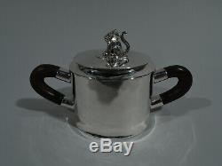 Spratling Coffee & Tea Set Taxco Modern Mexican Sterling Silver 1940s
