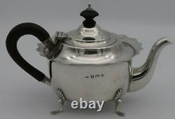 Sterling Silver 3 Piece Bachelor's Tea set B'ham 1907.18Troz. William Devenport