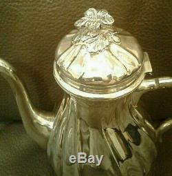 Sterling Silver 925 tea pot set 896 grams Milk Sugar Anique Danish Excellent