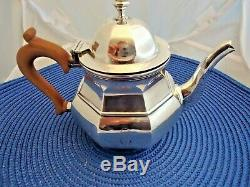 Sterling Silver Birmingham S. Blanckensee & Son 3 Pcs Coffee Tea Set E Mono