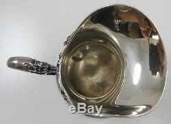 Sterling Silver Tea Set of 4 Hollowware Open Sugar Creamer Tray Tea Pot Germany