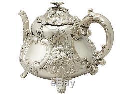 Sterling Silver Three Piece Tea Set Antique Victorian