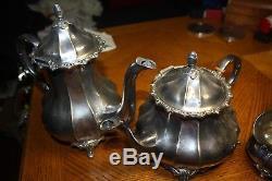 Sterling silver coffee tea set