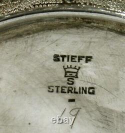 Stieff Sterling Tea Set 1921 HAND DECORATED