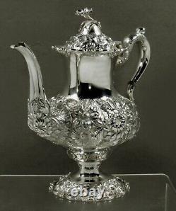 Stieff Sterling Tea Set 1949 HAND DECORATED