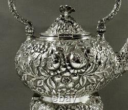 Stieff Sterling Tea Set c1910 HAND DONE 72 OUNCES
