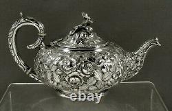Stieff Sterling Tea Set c1925 HAND DECORATED